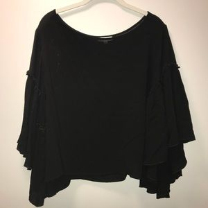 WORN ONCE South Moon Under Black Blouse